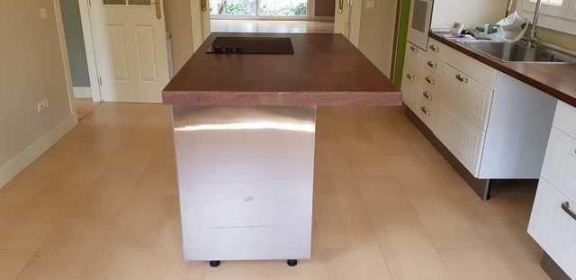 Vendo cocina tipo isla en madera de 170x100 cm incluyendo ...
