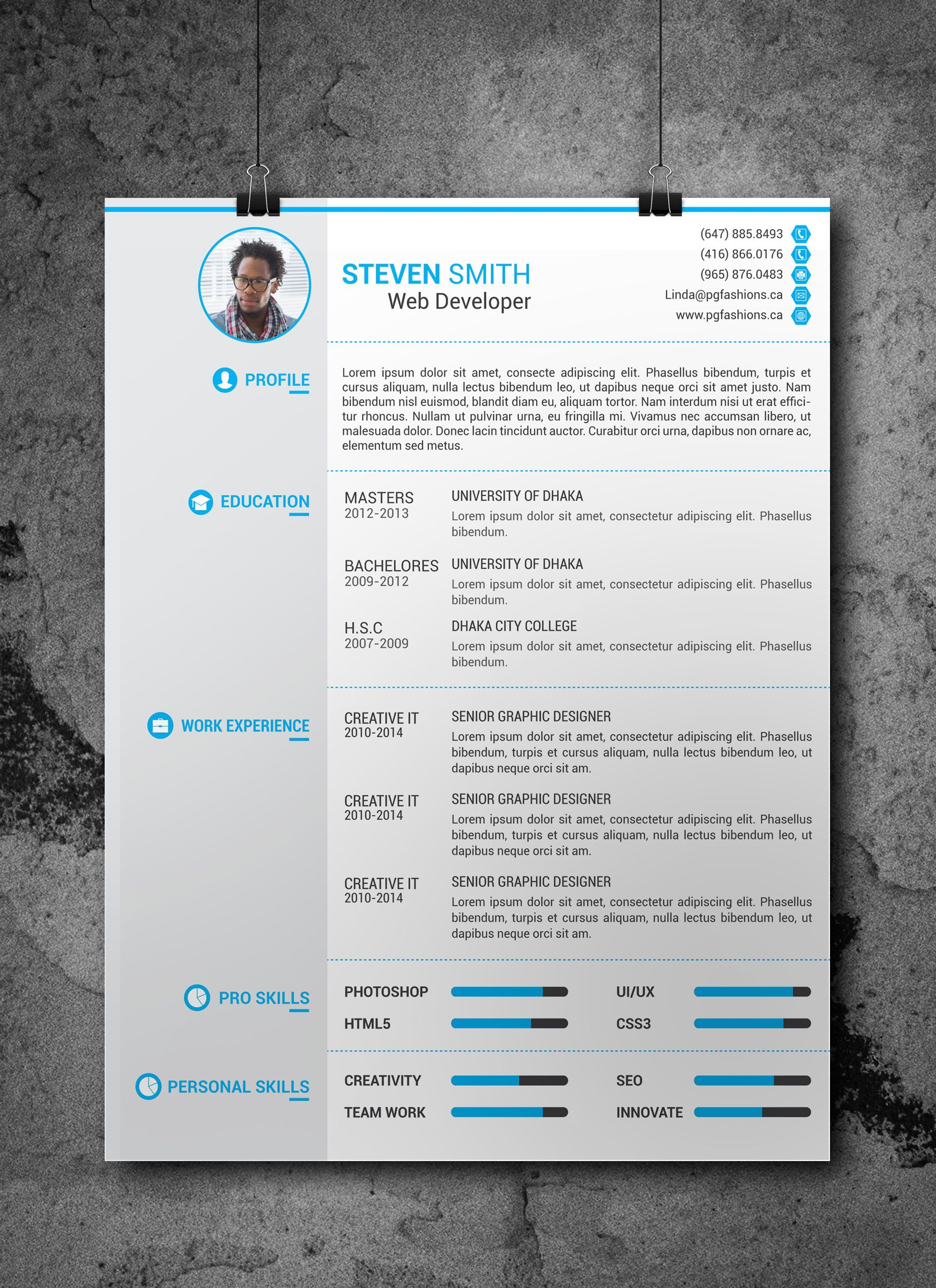 resume cv template free download by arahimdesign careers