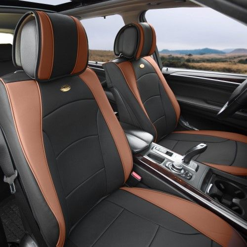 Car Suv Truck Pu Leather Seat Cushion Covers Front Bucket Seats Black Brown Leather Seat Covers Leather Seat Black And Brown
