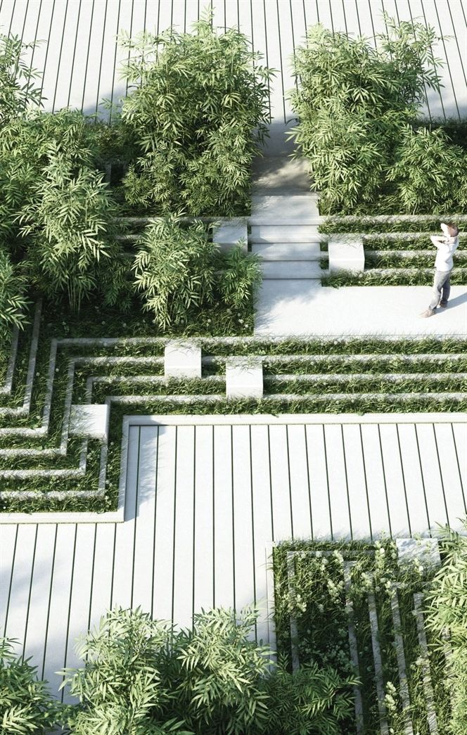 Magic Breeze Landscape Design by Penda                                                                                                                                                                                 More #landscape garden #modernlandscapedesign