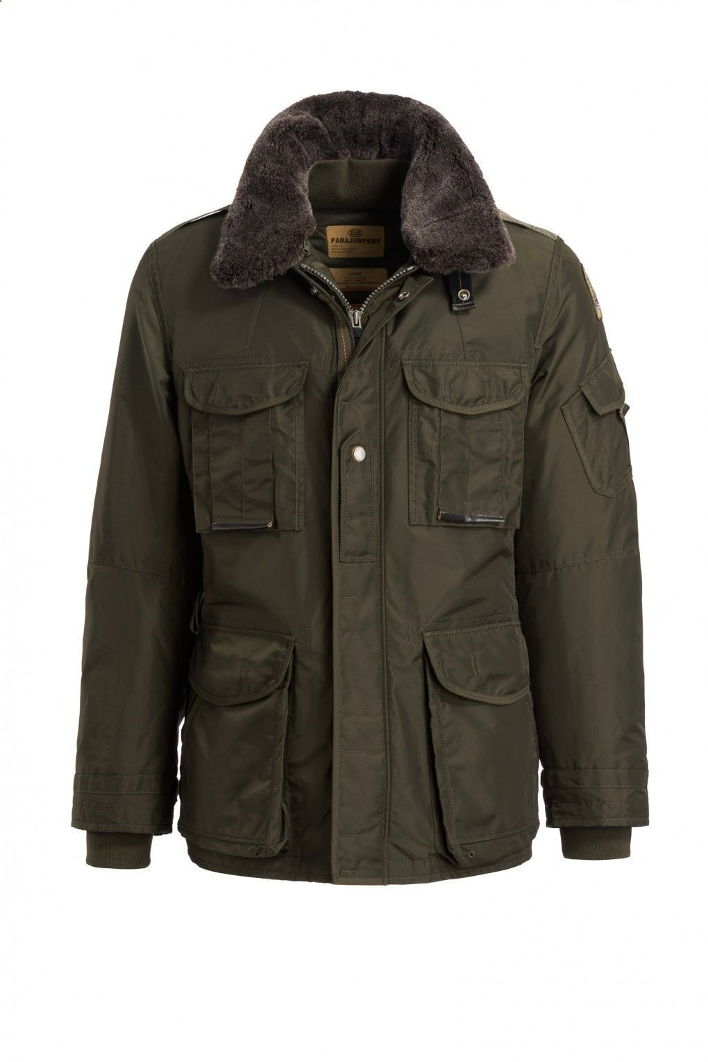 Parajumpers Mens Portland Jacket in Olive Green Last one!