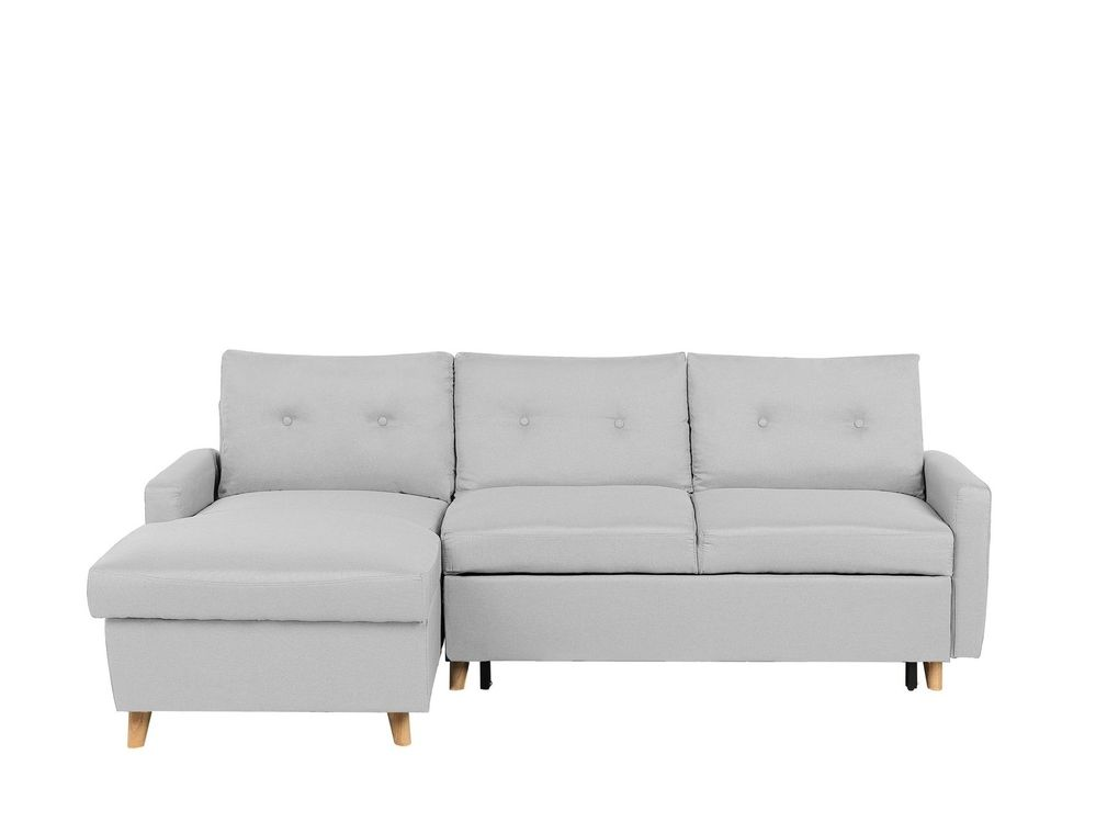 Right Hand Corner Sofa Bed With Storage Light Grey Flakk In 2019 Corner Sofa Bed With Storage Sofa Bed With Storage Corner Sofa