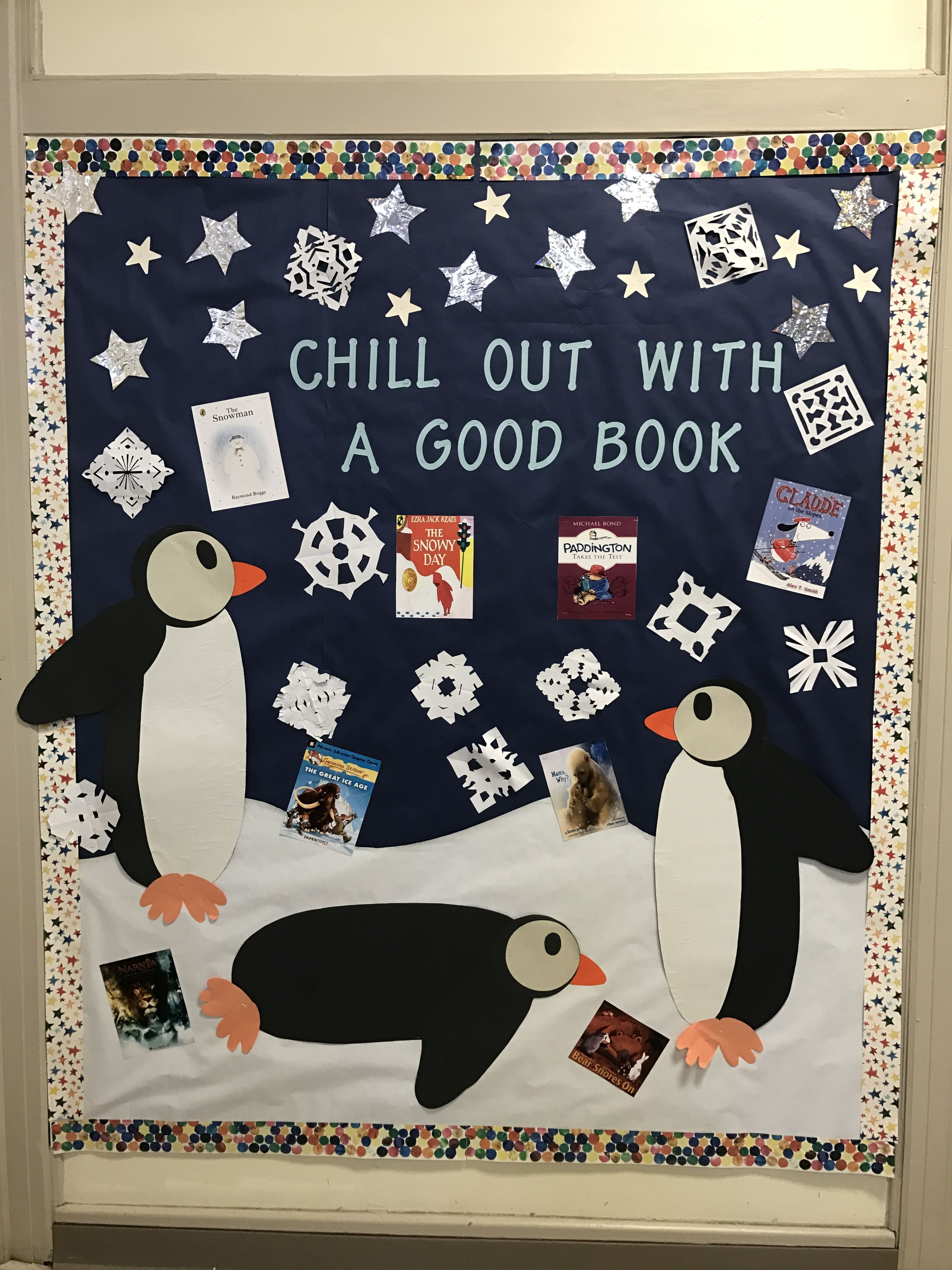Chill out with a good book bulletin board OBCS | Bulletin