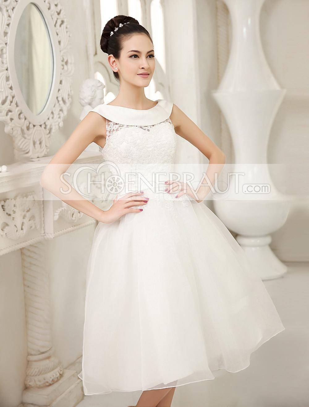 Kurze Standesamtkleid vintage mit spitze am Rücken Brautkleid mit ...