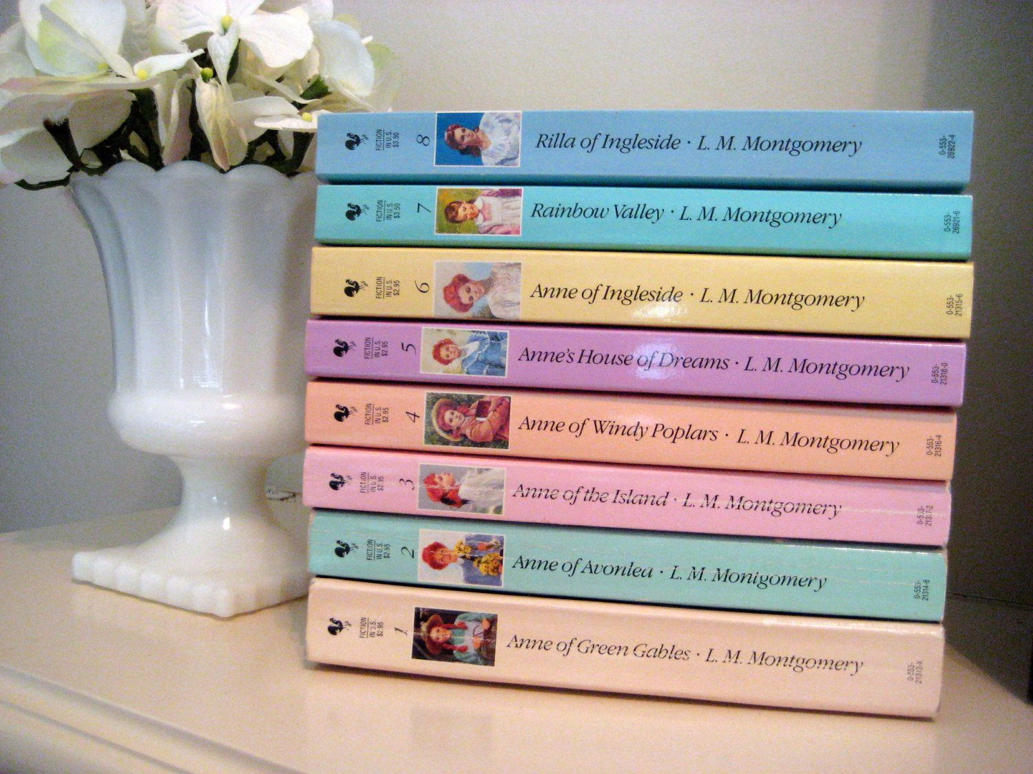 Anne Of Green Gables L M Montgomery Complete Set Of 8 Paperback