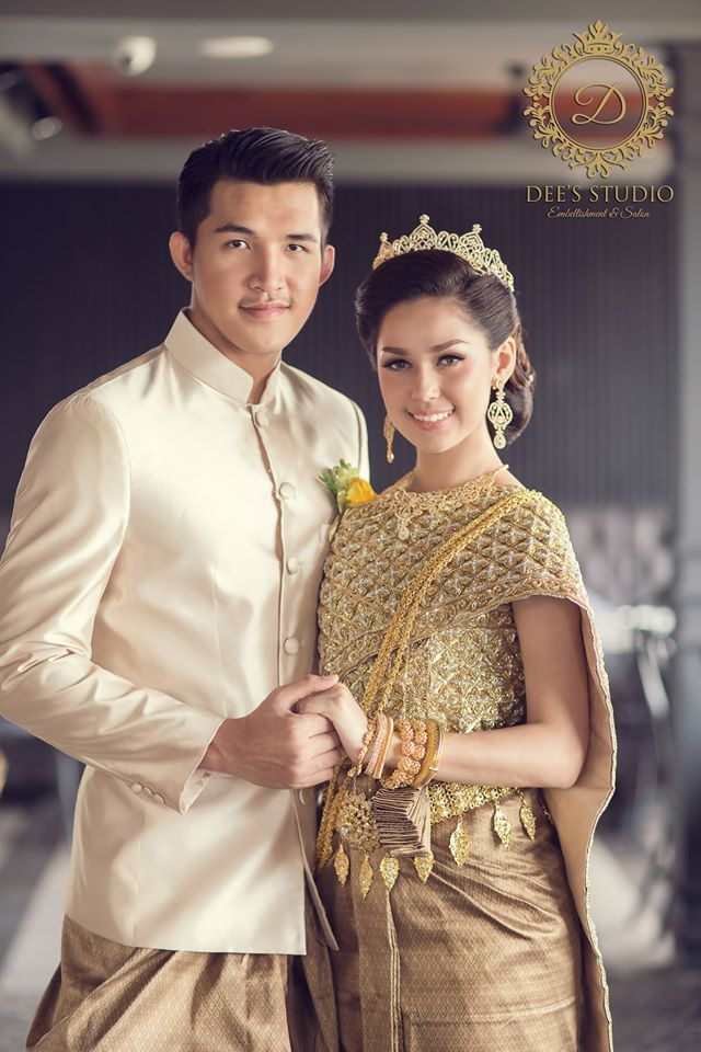 Khmer Wedding Costume Cambodian Wedding Dress Cambodian Wedding Cambodian Dress