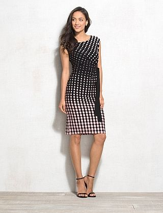 f92b3966391 Petite Graduated Dot Dress