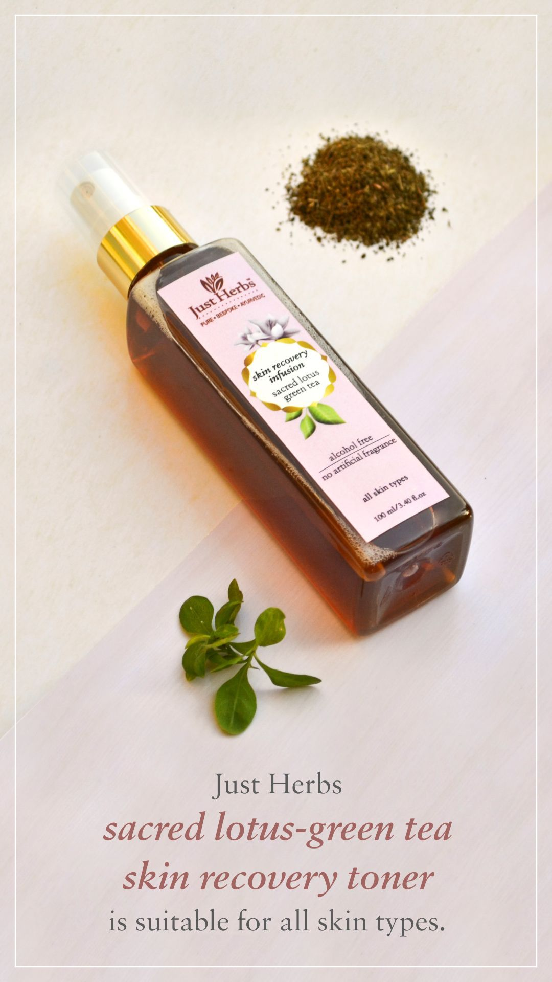 Sacred Lotus Green Tea Skin Recovery Toner All Skin Types
