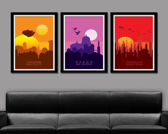 Star Wars Force Inspired Planets Series 1 Poster 154 Home Decor Movie Poster Star Wars Planets Star Wars Movies Posters Star Wars Poster
