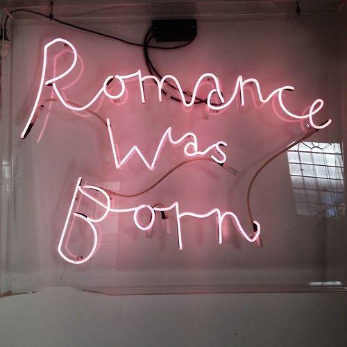 ☪ #neon #romance #love