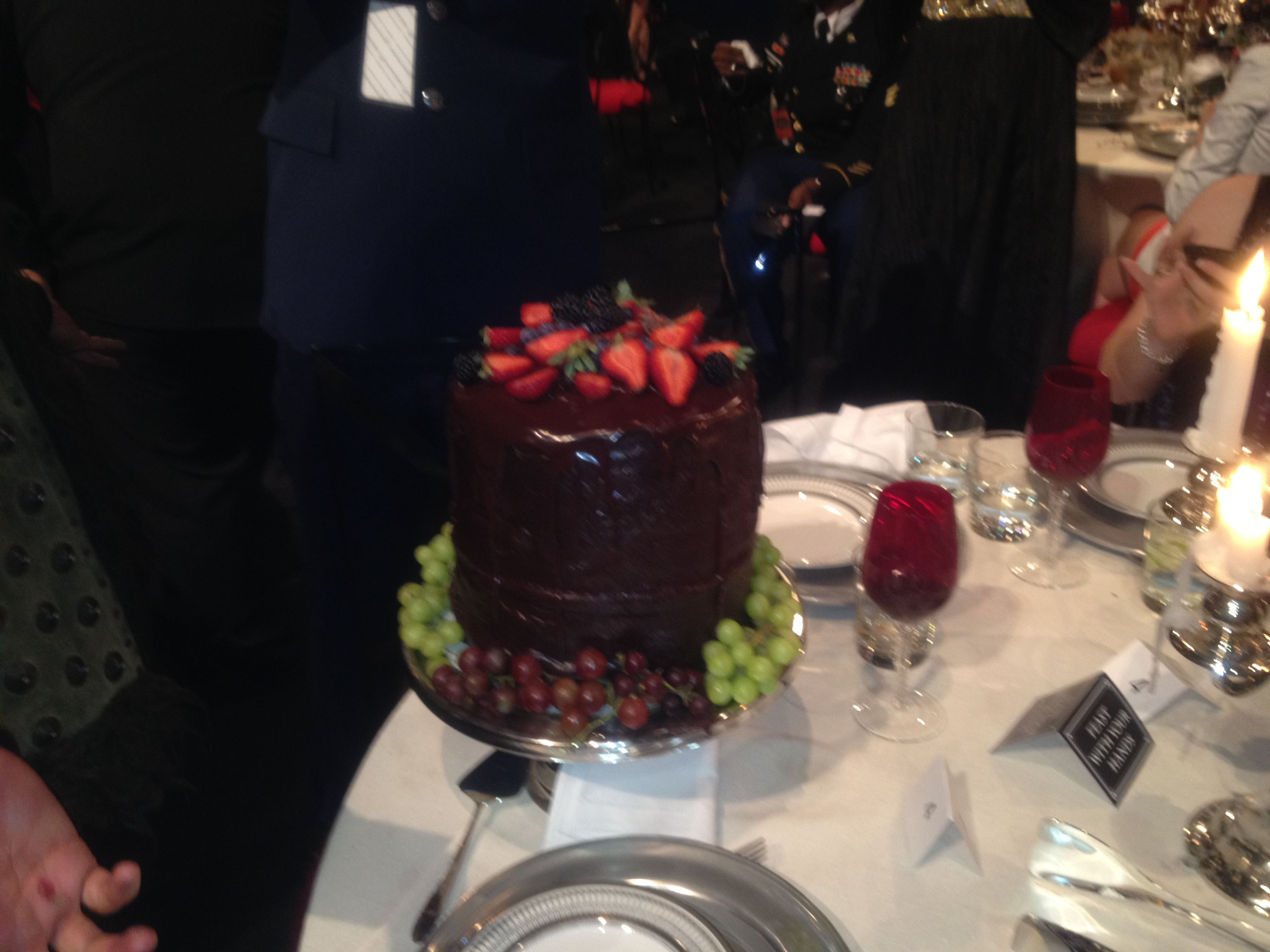 Largest chocolate cake ever at Spike Guys Choice Awards