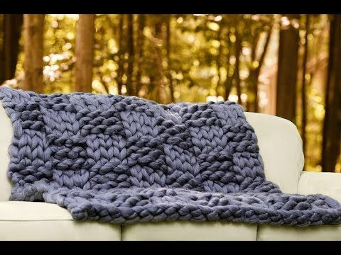 How To Arm Knit Basket Weave Pattern With Super Chunky Vegan Yarn