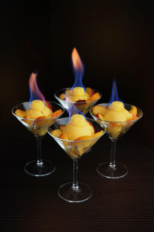 Flaming Apricot Ice Cream: Solstice Fire Magic! —