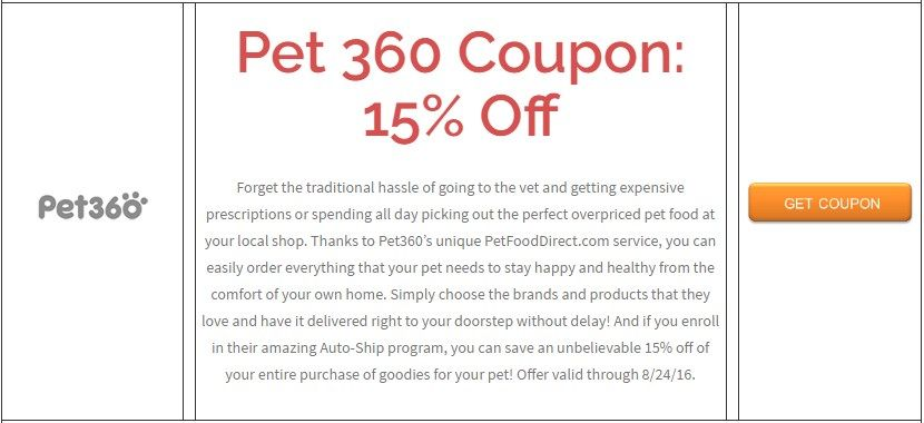 Pet 360 Coupon: 15% Off  Brought to you by http://www.imin.com and http://www.imin.com/store-coupons/pet360