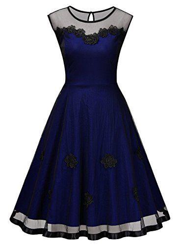 Miusol robe de cocktail pour mariage vintage retro ann e for Robes de mariage designer amazon