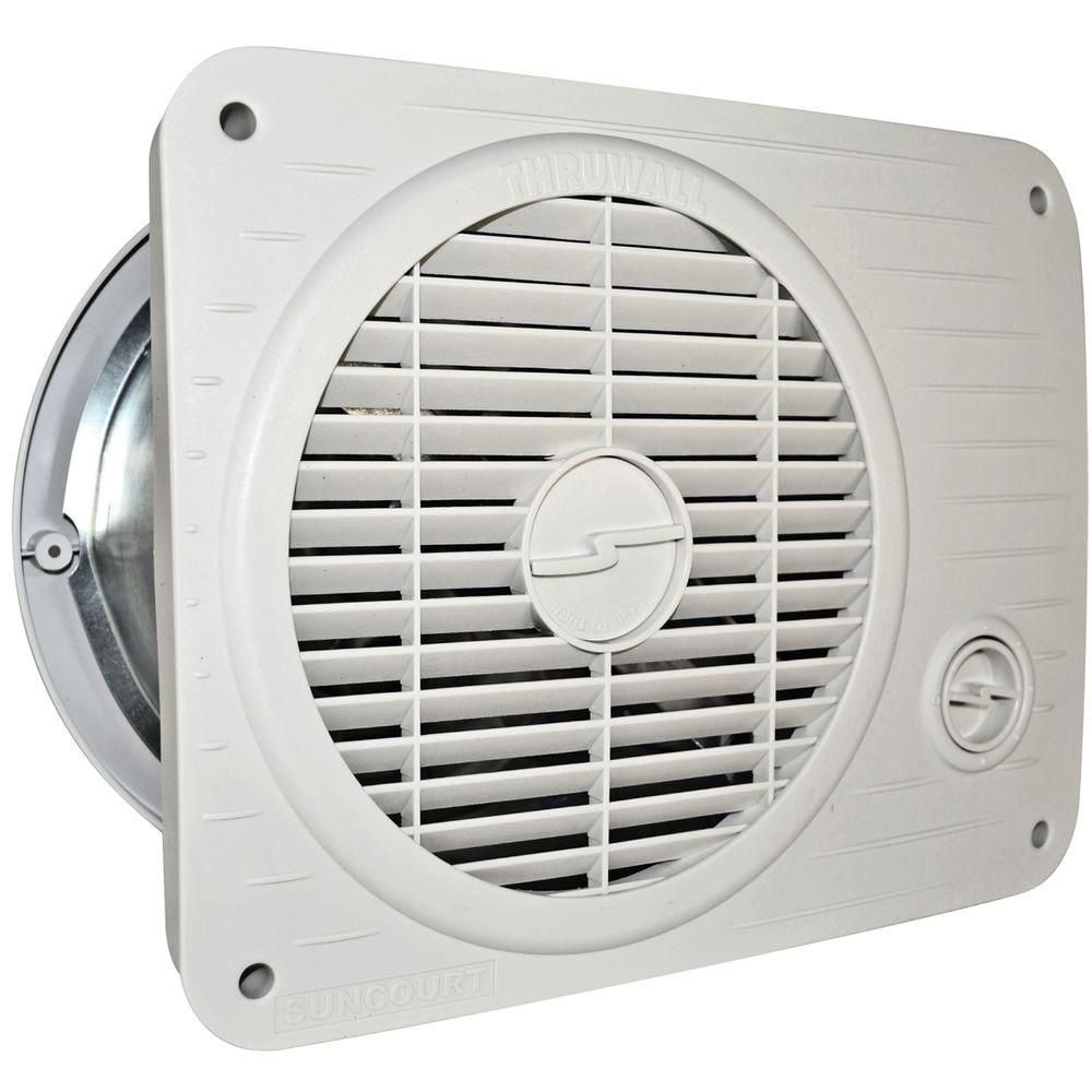 Suncourt Thru Wall Fan Hardwired Variable Speed Tw208p Wall Fans Room Fan Air Conditioner Accessories