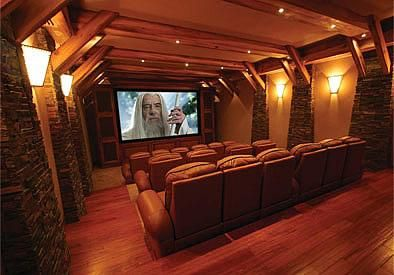 Custom home theater design by the av guy home theater for Custom home theater design