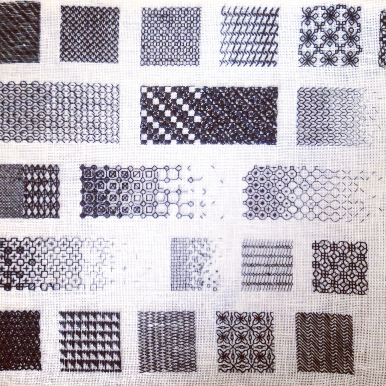 Exploring new Stitch formations using traditional Blackwork