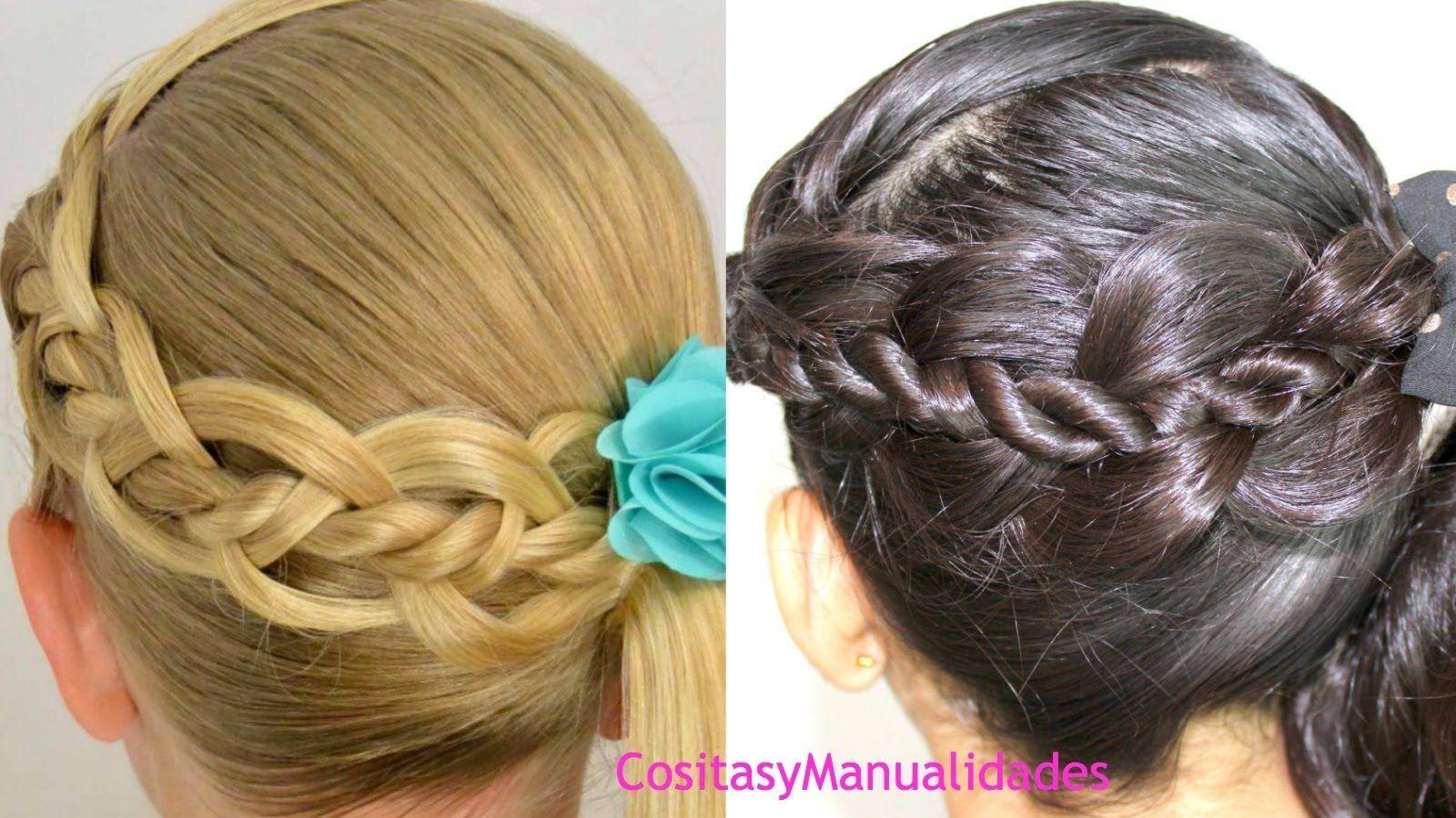 peinados para ninastrenza de cuatro con torcidos peinados faciles