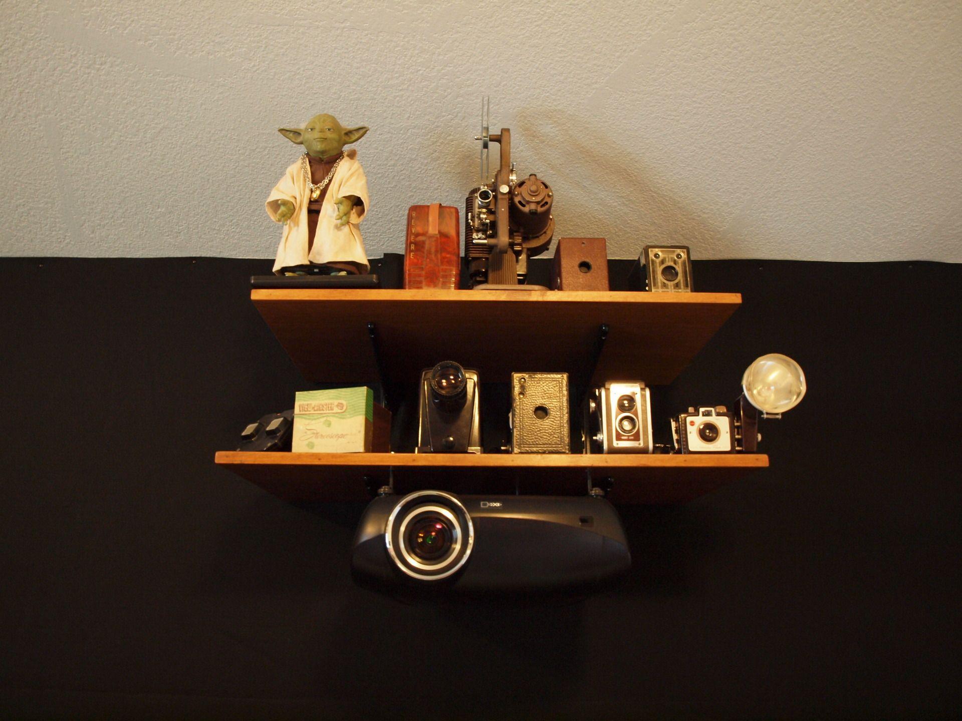 mounting projector underneath shelf on back wall avs forum