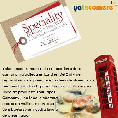 Yatecomeré se presenta en Londres bajo la denominación Your Tapas Company. Nuestra tarjeta de presentación: una #tapa de mejillones de las rías gallegas bañados en salsa de albariño. #food, #tapas, #recetas #yatecomere