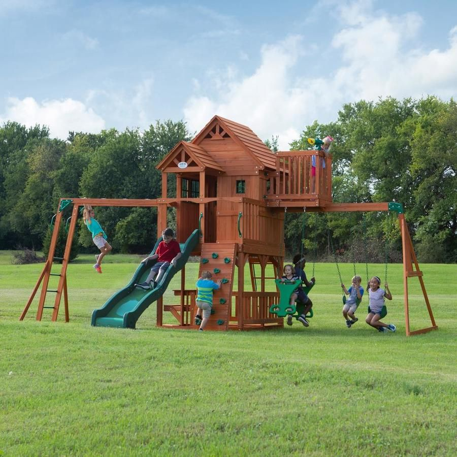 Backyard Discovery Skyfort Ii Residential Wood Playset Wooden