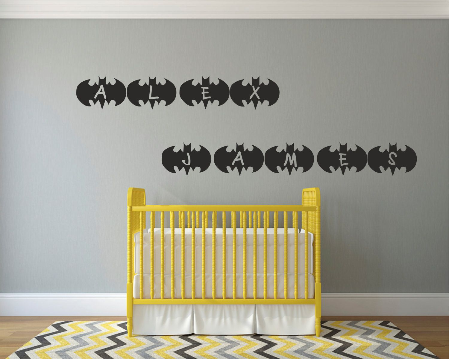 Personalised Name Batman Logo Alphabet Vinyl Decal Sticker Stencil ...