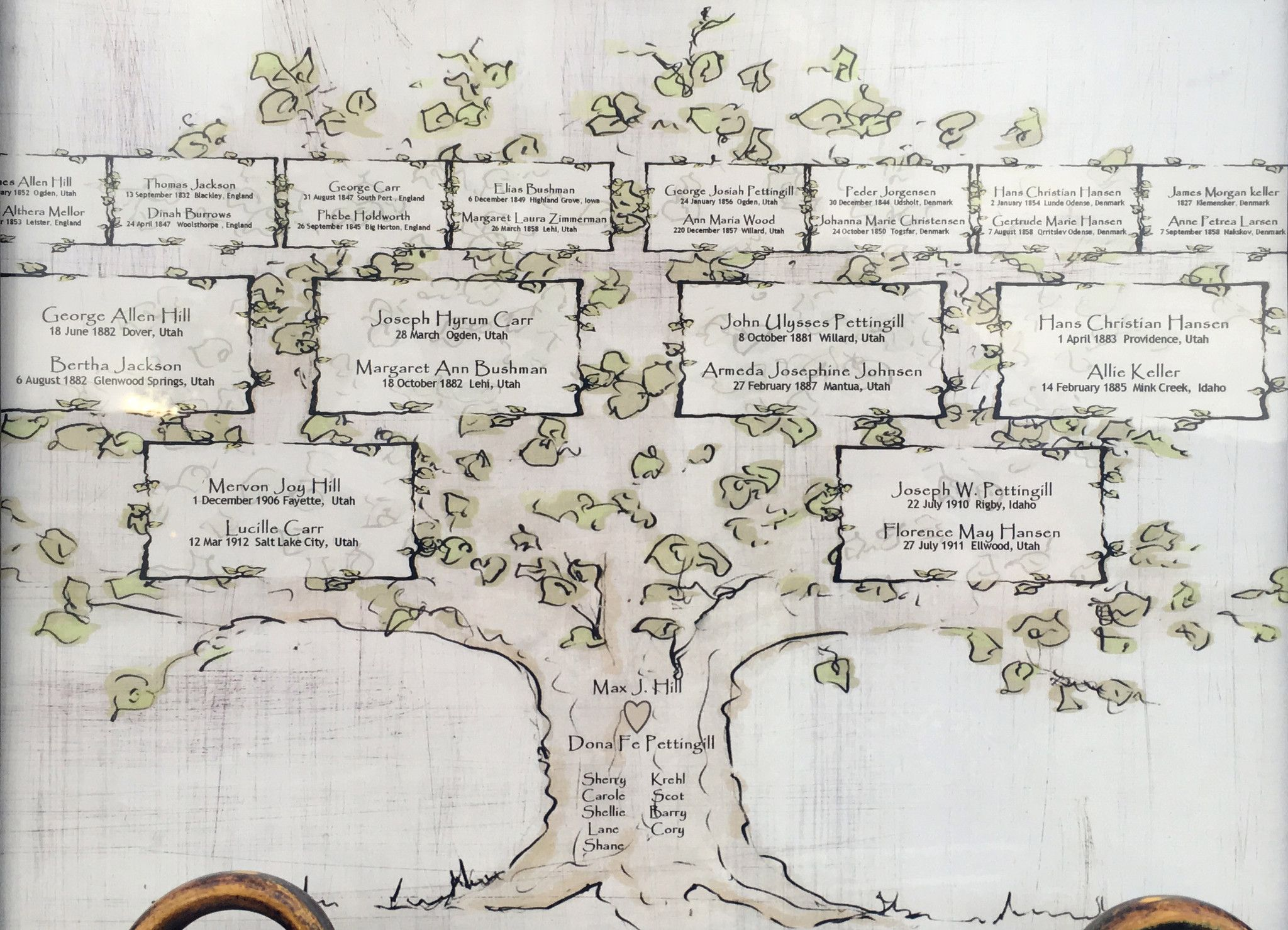 Personalized 4 Generation Family Tree | Family trees and Hand drawn