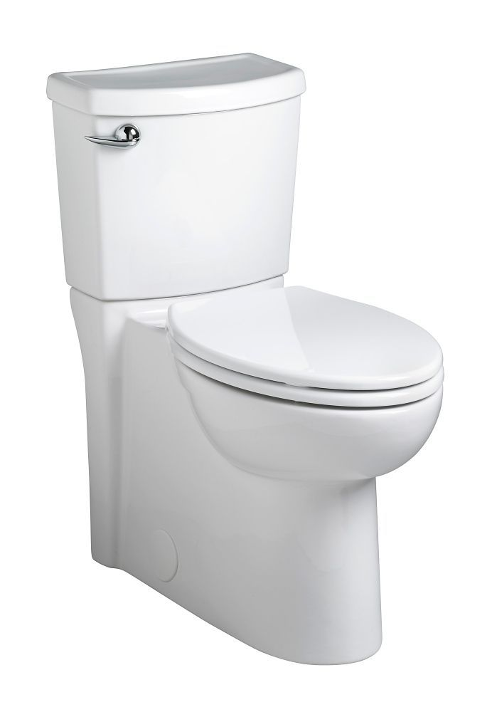 Cadet Sup Sup 3 Two Piece 1 28 Gal Concealed Trapway Elongated Toilet In White American Standard Toilet Bathroom Collections