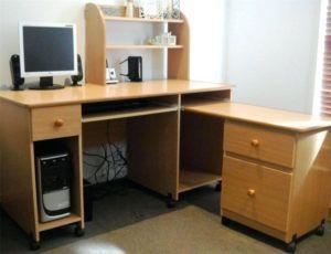 Home Office White Corner Computer Desk Felix