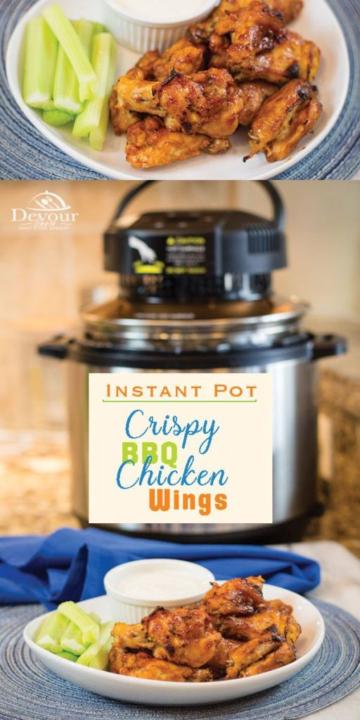 Crispy and Delicious, Honey BBQ Chicken Wings #airfryerchickenwings