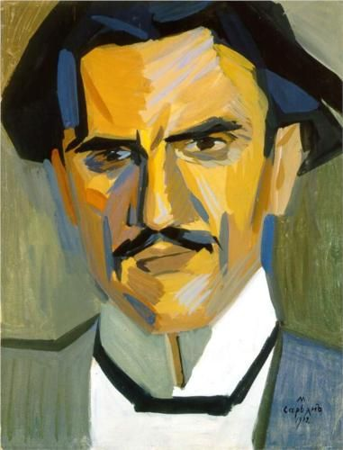 Portrait of critic Garegin Levonian - Martiros Saryan