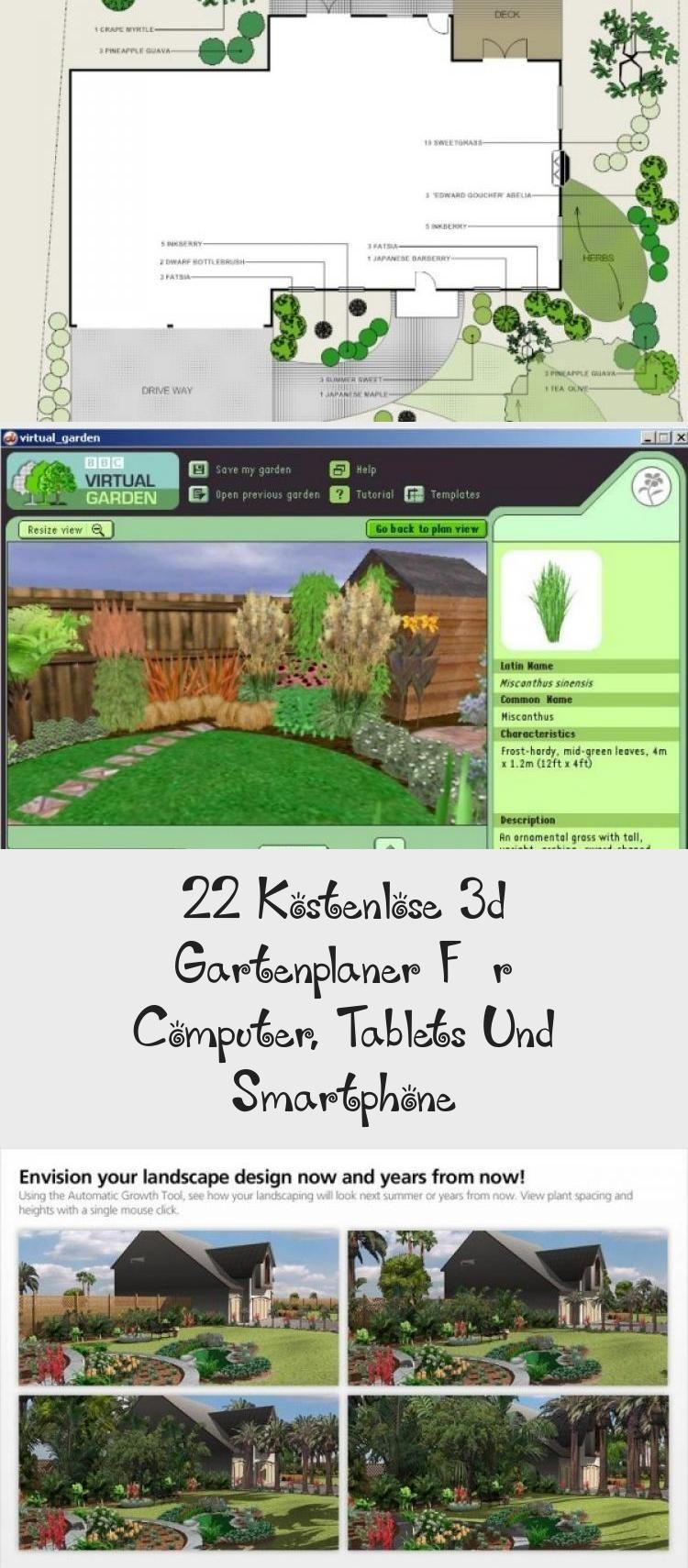 22 Kostenlose 3d Gartenplaner Fur Computer Tablets Und Smartphone In 2020 Landscape Landscape Design Garden Help