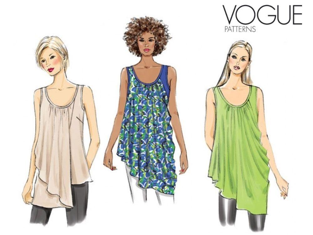 Patron Vogue 9005 Woman´s Top, V9005,  chez tissus-hemmers.fr
