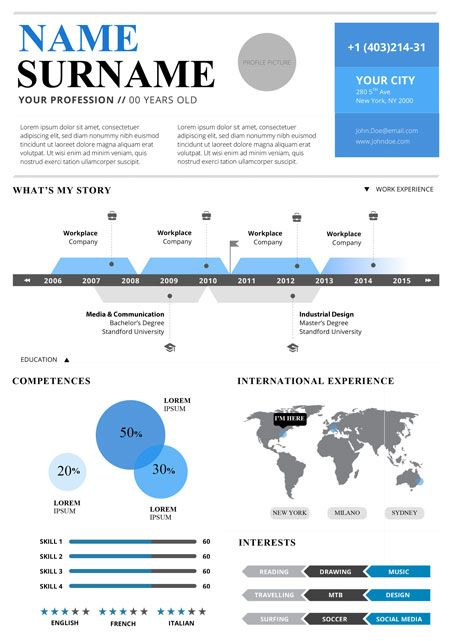 top 5 infographic resume templates products i love pinterest
