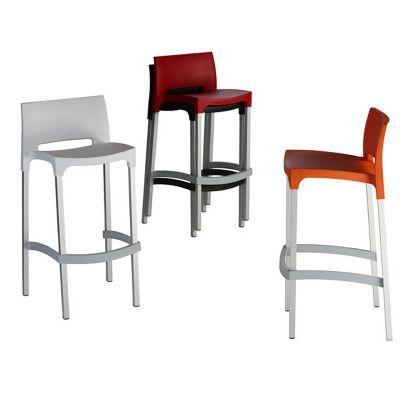 Gio Resin Outdoor Barstool Black Isp035 Bla Barstools Pinterest