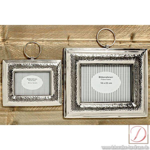 Bilderrahmen Silber B36cm Aluminium Einmalig Glanzend Und