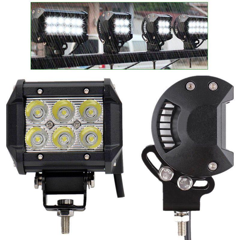 2pcs 4inch 18w Cree Led Work Light 4x4wd Spot Offroad Driving Fog Lamp Atv Suv Spotlight Lamp Cree Led Lamp Light