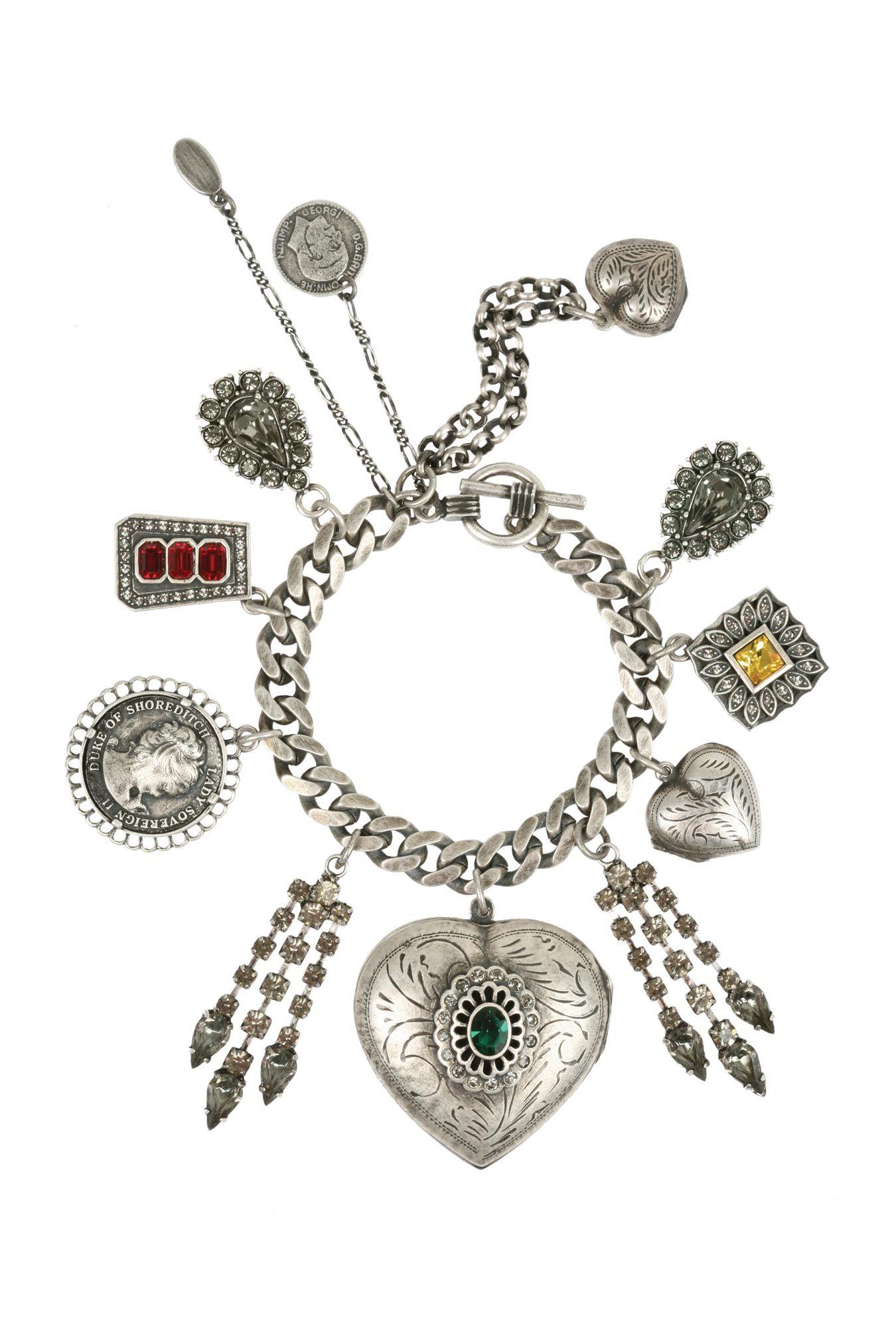 Jeweled Locket Charm Bracelet by Mawi