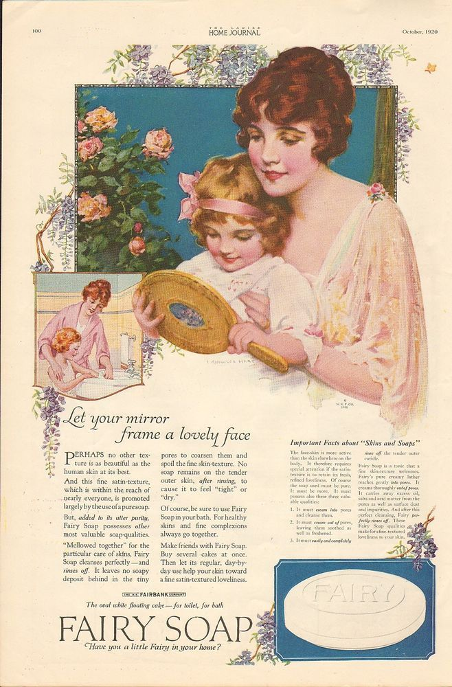1920 VINTAGE MAGAZINE AD #825 - FAIRY SOAP