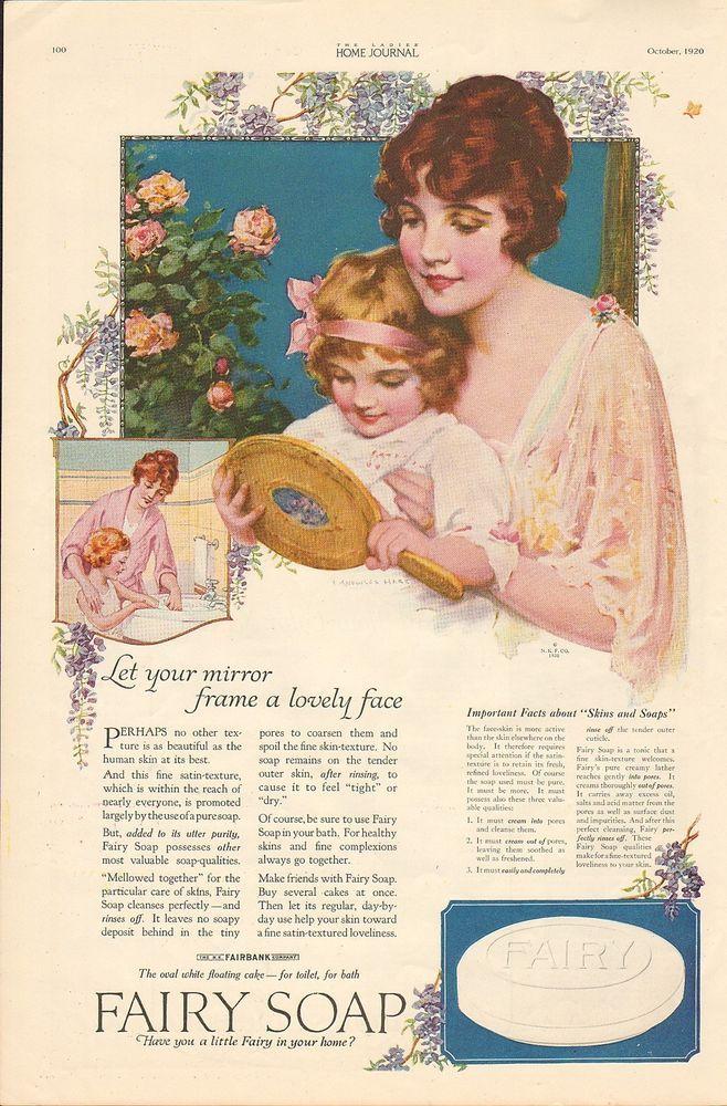 1920 VINTAGE MAGAZINE AD #825 - FAIRY SOAP