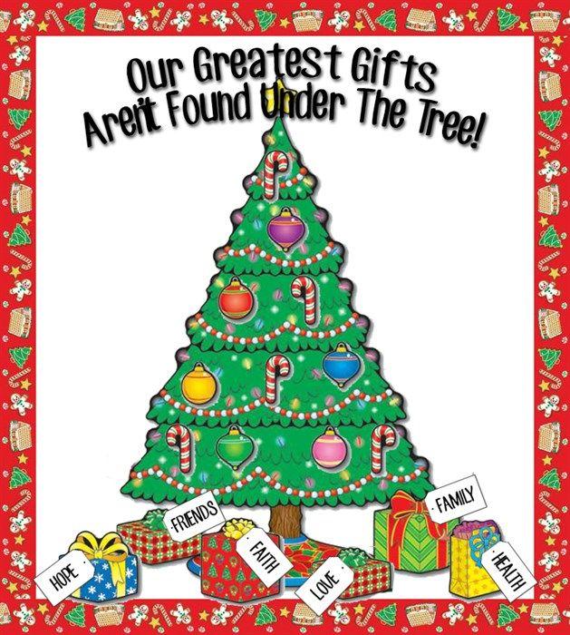 Our Greatest Gifts... - Christmas Bulletin Board Idea