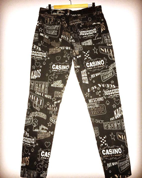 4eceedcf550c Vintage Moschino Casino print jeans Moschino by VintagestarParis #moschino  #vintagemoschino #moschinojeans #casinoprint