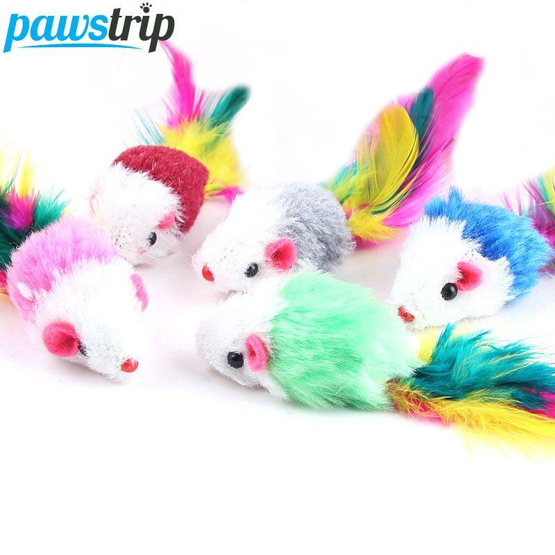 10pcs Soft Fleece False Mouse Cat Toy Cat Toys Kitten Toys