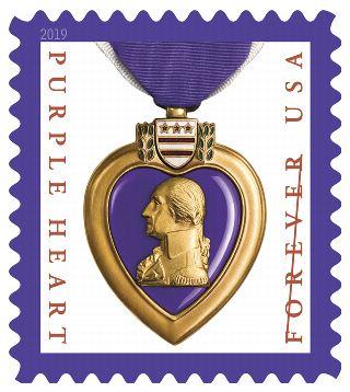 Fdoi Purple Heart Medal 2019 Stamp Purple Heart Medal Stamp Purple