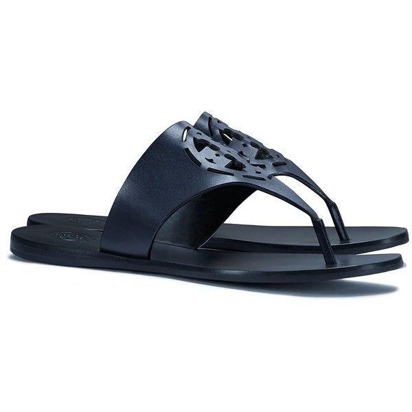 8c8e13063113 Tory Burch Zoey Thong Sandals ( 195) ❤ liked on Polyvore featuring shoes