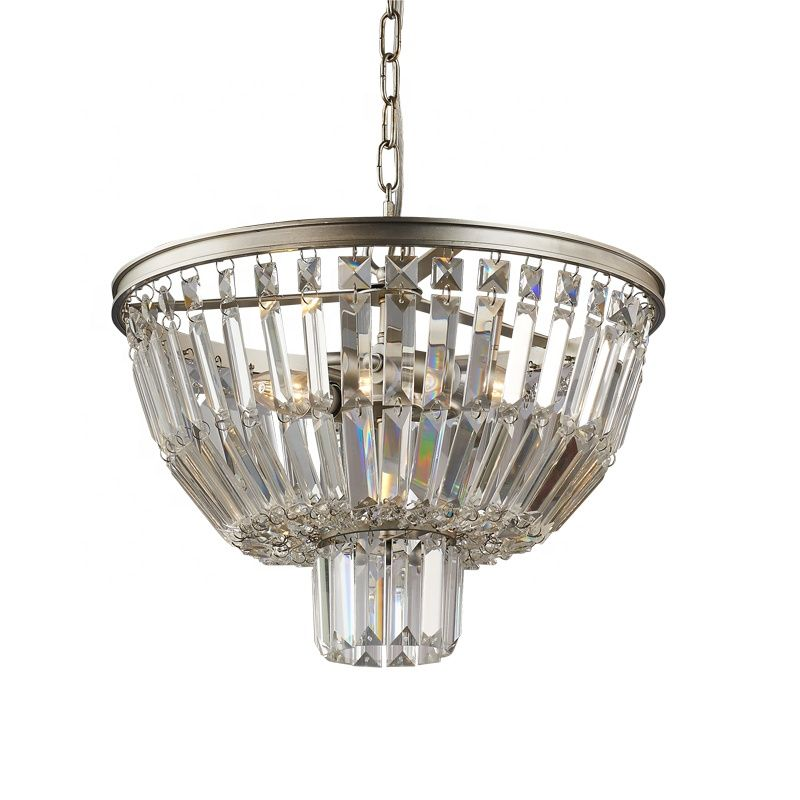 Wholesale Luxury Antique Living Room Decoration Gold Crystal Beads Chain Led Chandelier Lighting In 2020