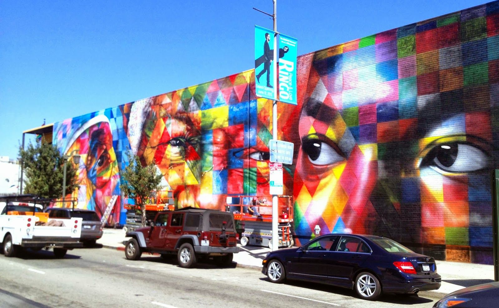 Second street art mural by brazilian painter eduardo kobra in los