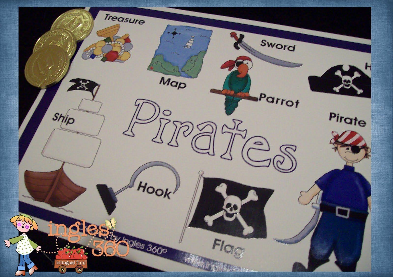 Ingles360 Preschool pirate theme, Pirate activities