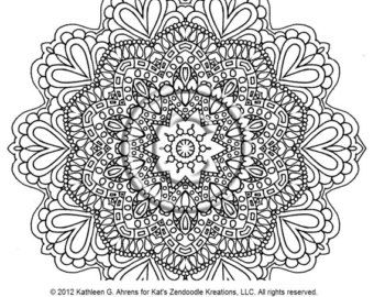 zentangle mandala coloring pages 04 | coloring pages to print ...